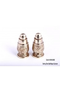 900 Pure Silver ART-0661 & 0662 Silver Salt & Pepper