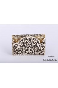 900 Pure Silver ART-0762 Silver Visiting Card Holder