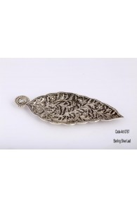900 Pure Silver ART-0767 Sterling Silver Leaf