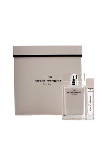 narciso rodriguez l 39 eau for her coffret gift set for women set of 2 import only perfume crush. Black Bedroom Furniture Sets. Home Design Ideas