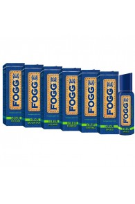 Fogg Bleu Series Forest, Ocean, Mountain, Skies, Island And Spring Pack Of 6 Deodorants For Men
